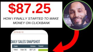 $100 in a Day Clickbank as a Beginner? | How I Just Made $87.25 in 3 Hours
